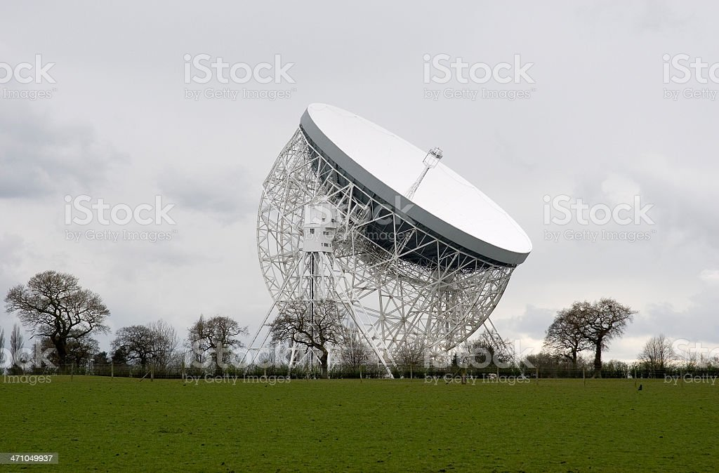 Jodrell Bank Observatory - Lovell radio telescope royalty-free stock photo