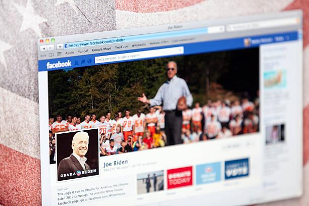 joe biden na stronie fanów na facebooku - joe biden zdjęcia i obrazy z banku zdjęć