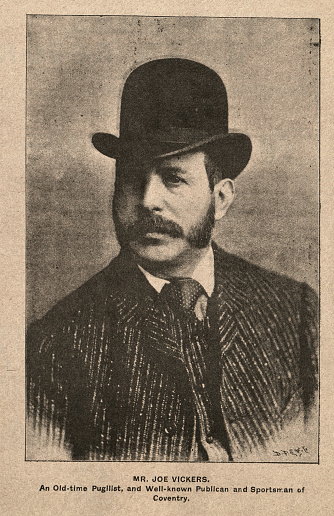 Vintage photograph of Joe Vickers, pugilist, and publican and sportsman of Coventry, 1890s, Victorian 19th Century