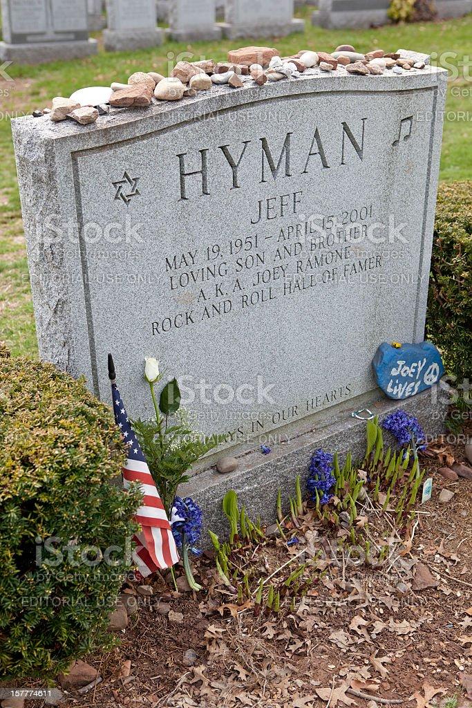 Joey Ramone's Grave stock photo