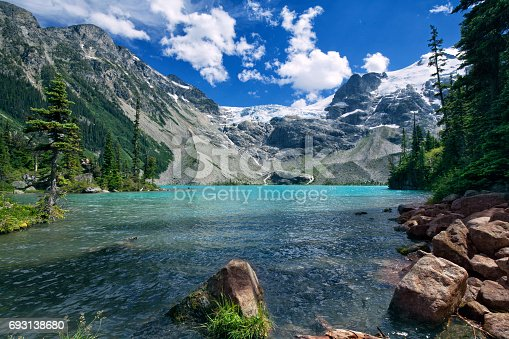 Upper Joffre Lake in summer in Pemberton, BC, Canada