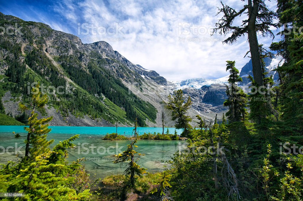 Joffre Lakes in summer, BC, Canada stock photo