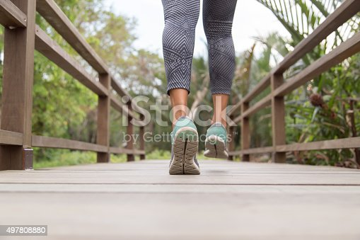istock Jog Across Bridge 497808880