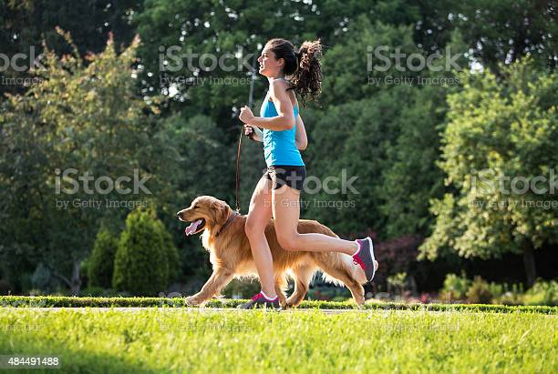 Jogger and golden retriever running on a paved trail picture id484491488?b=1&k=6&m=484491488&s=612x612&h=iihcgiktal jez5pkpaacyudwibid rqcon8fmm7opo=