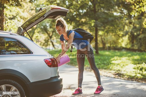 istock Jogging and yoga is great combination of physical activities 863894260