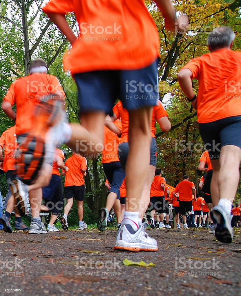 Jogging competition royalty-free stock photo