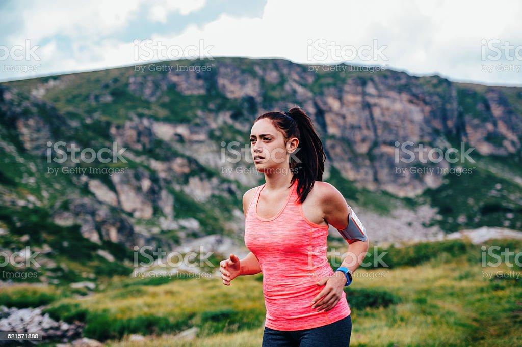 Piste de Jogging dans la montagne photo libre de droits
