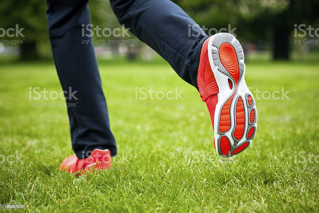 Jogging in the park royalty-free stock photo