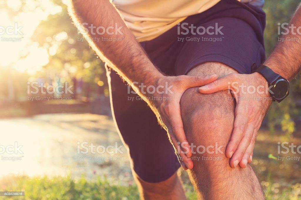 Joggen Verletzungen - Lizenzfrei Schmerz Stock-Foto
