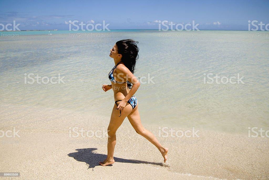 Joggen am Strand Lizenzfreies stock-foto