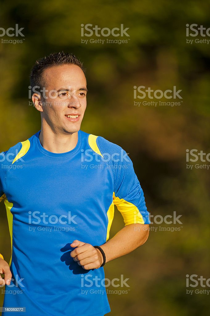 Jogging on the meadow royalty-free stock photo
