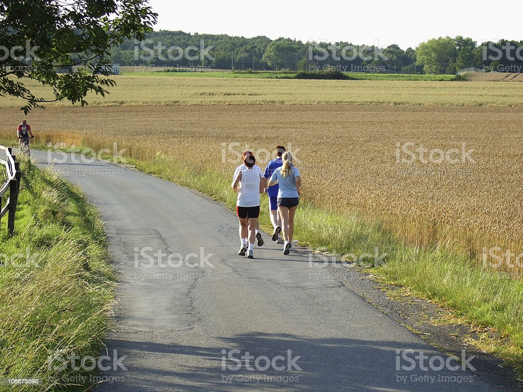 jogging people royalty-free stock photo
