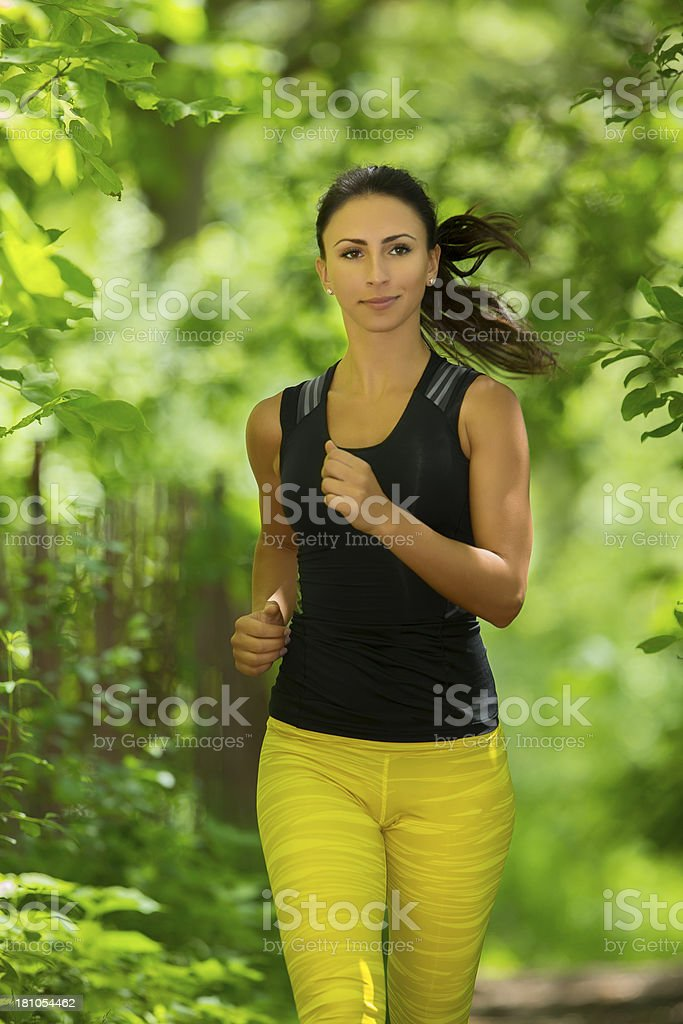 Jogging royalty-free stock photo