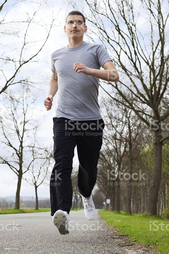 Jogging royalty-free stock photo
