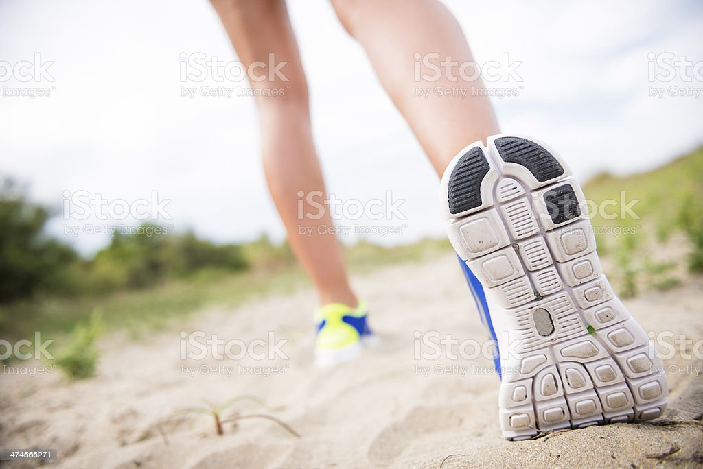 jogging shoes closeup royalty-free stock photo