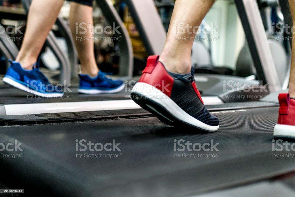 Jogging-Schuhe, Nahaufnahme - Lizenzfrei Aktiver Lebensstil Stock-Foto