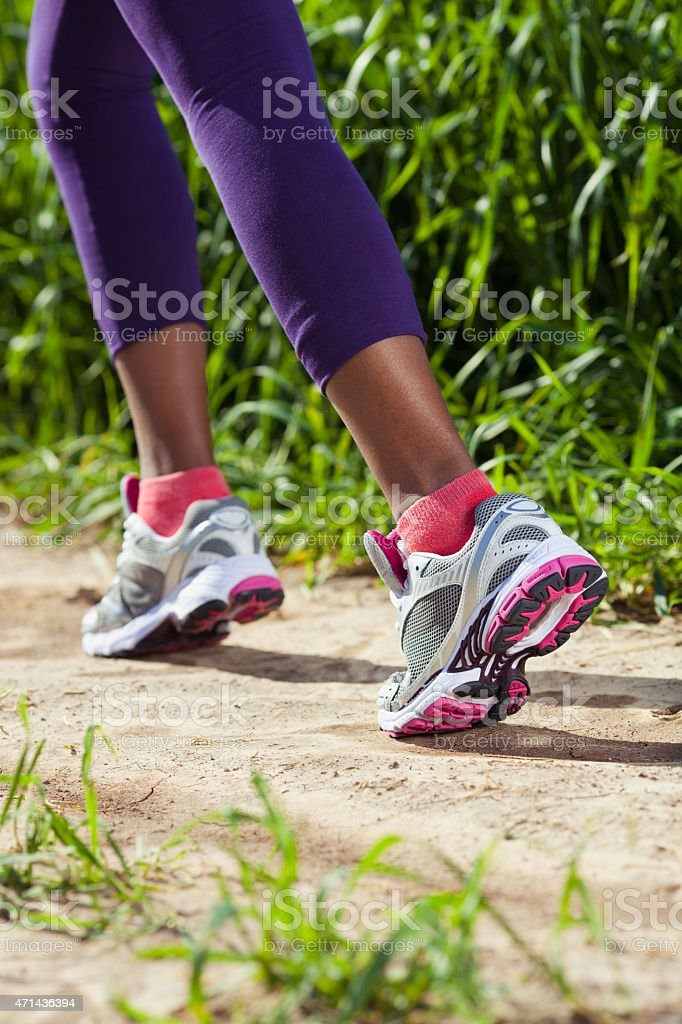 Jogging shoes. stock photo