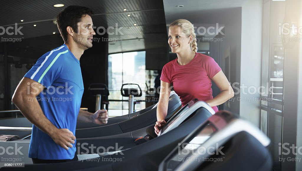 Jogging those calories off stock photo