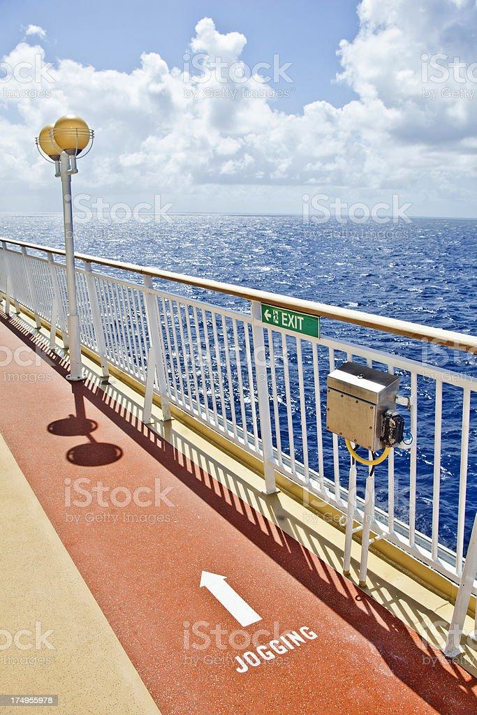 Jogging Track on Cruise Ship royalty-free stock photo
