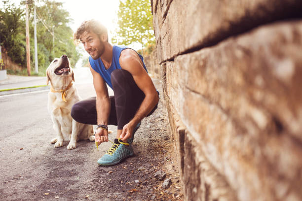 jogging with my best friend - jogging stock pictures, royalty-free photos & images