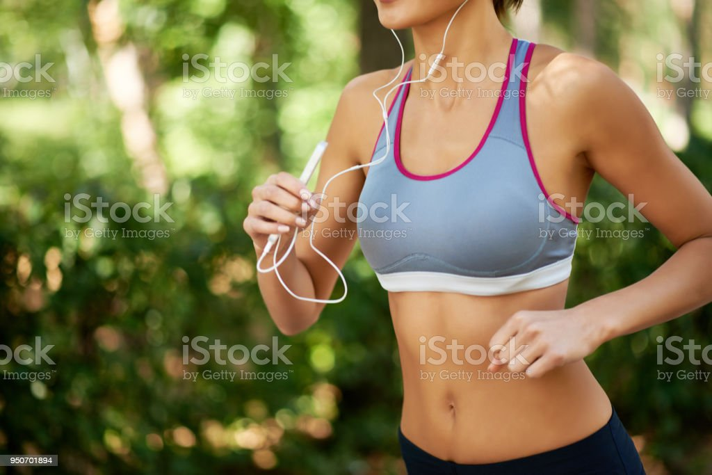 Jogging workout stock photo