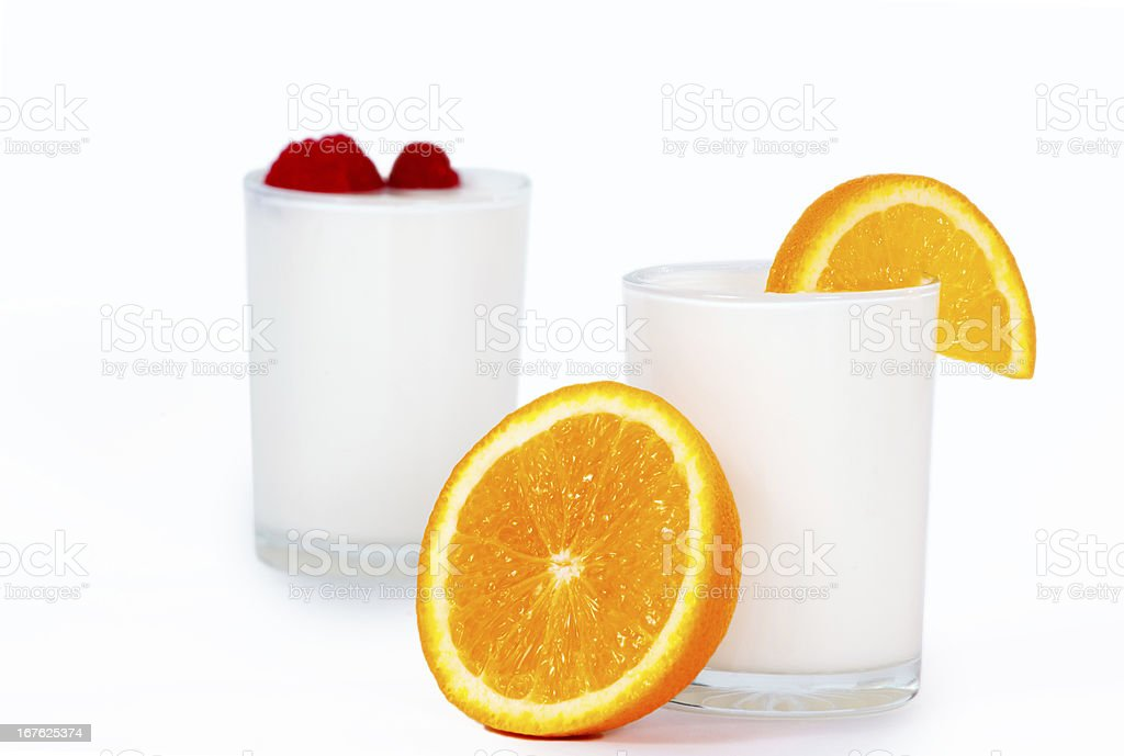 Jogurt with fruits royalty-free stock photo