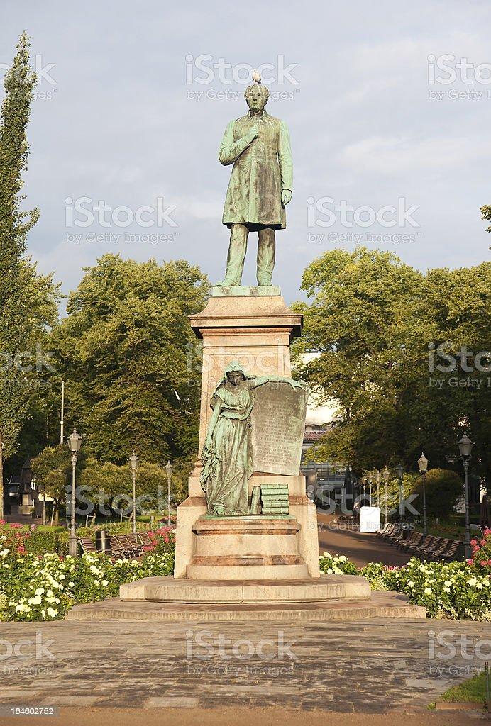 Johan Ludvig Runeberg monument in Helsinki, Finnland – Foto