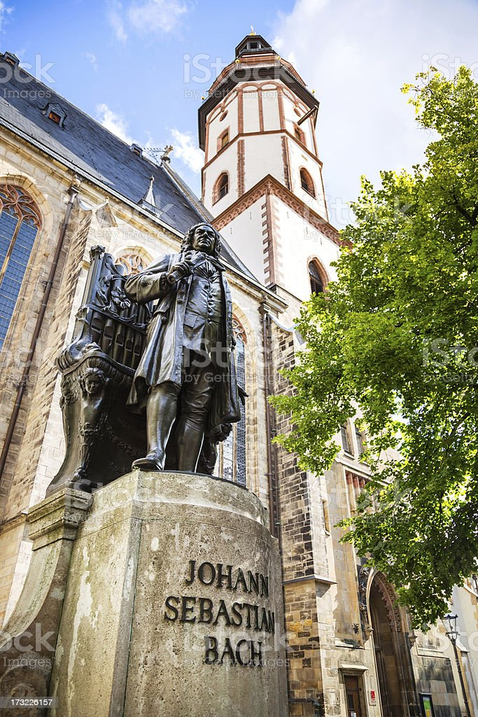 Johann Sebastian Bach Memorial, Leipzig stock photo