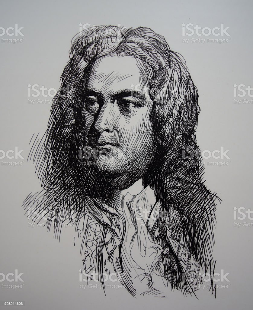 Johann Sebastian Bach stock photo