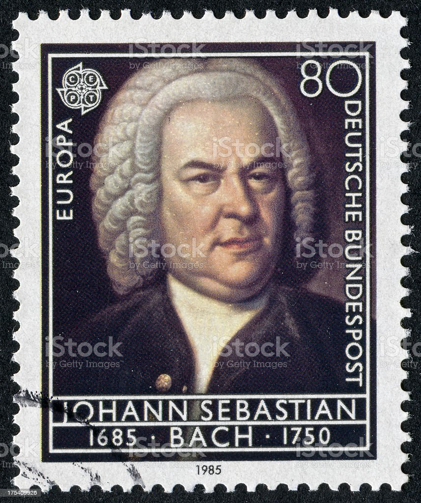 Johann Sebastian Bach Stamp stock photo