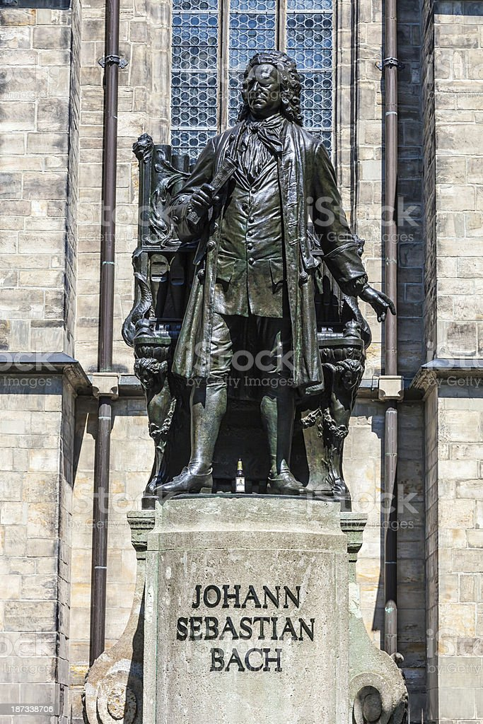 Johann Sebastian Bach Statue, Leipzig stock photo