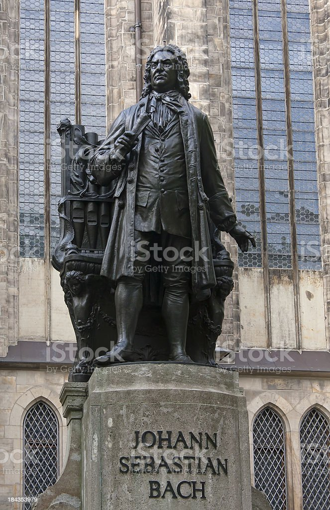 Johann Sebastian Bach Statue stock photo