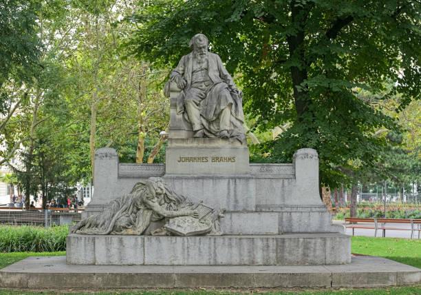 Johannes Brahms Monument in Vienna, Austria stock photo