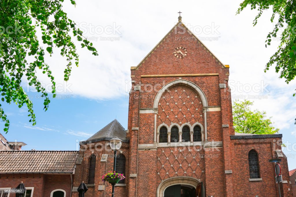 Johannes de Doper Church, Klundert, The Netherlands stock photo