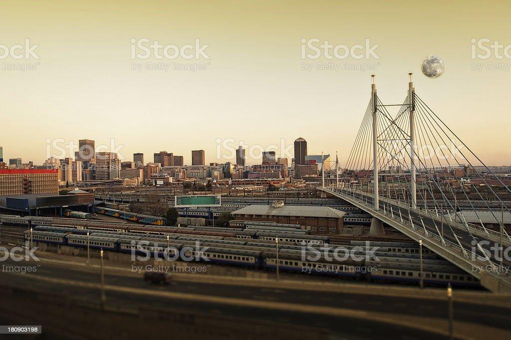 Johannesburg bridge stock photo