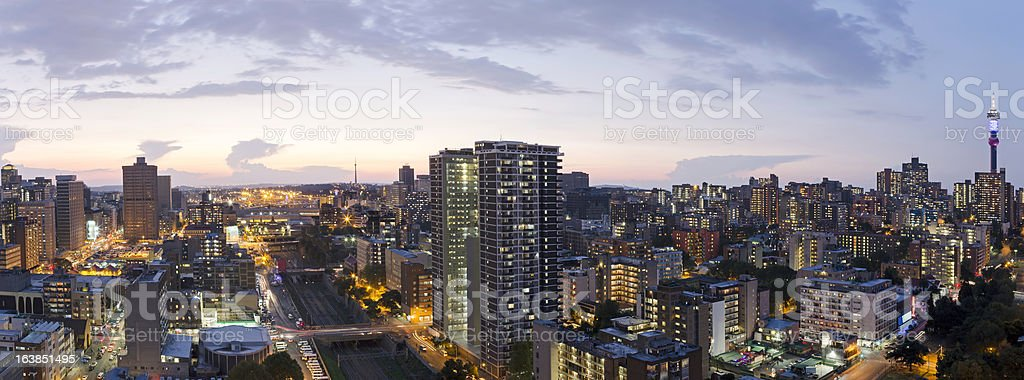 Johannesburg City Centre Sunset stock photo