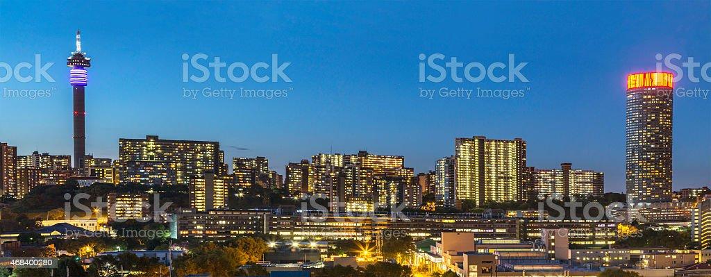 Johannesburg city evening sunset stock photo