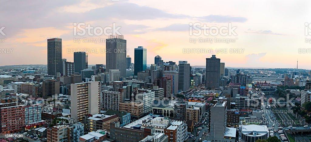 Johannesburg City Sunset stock photo