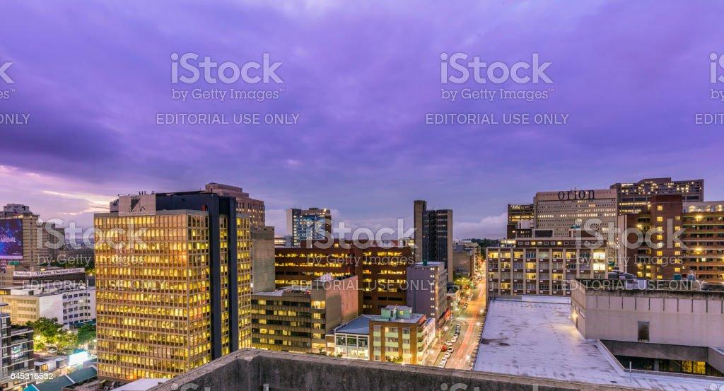 Johannesburg cityscape with Braamfontein stock photo
