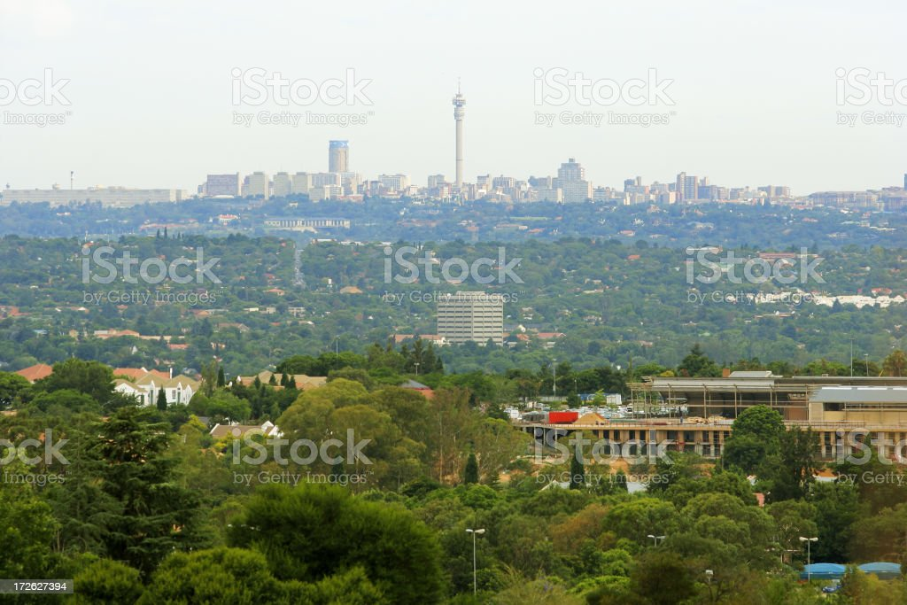 Johannesburg from the West royalty-free stock photo