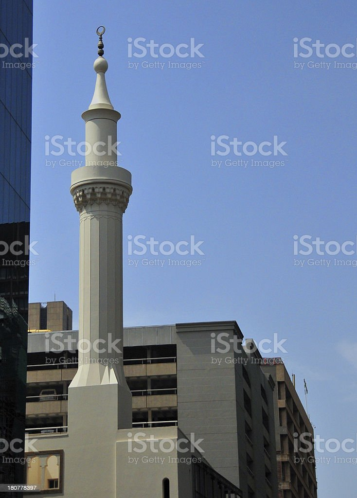 Johannesburg, Gauteng, South Africa: minaret of the city's Friday Mosque stock photo