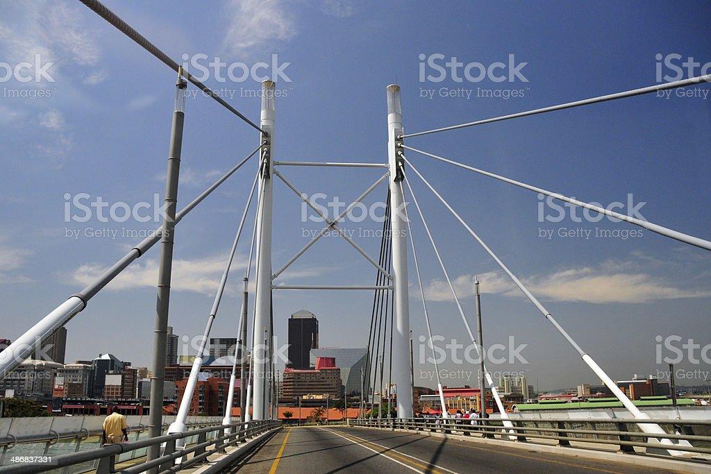 Johannesburg - Nelson Mandela Bridge stock photo