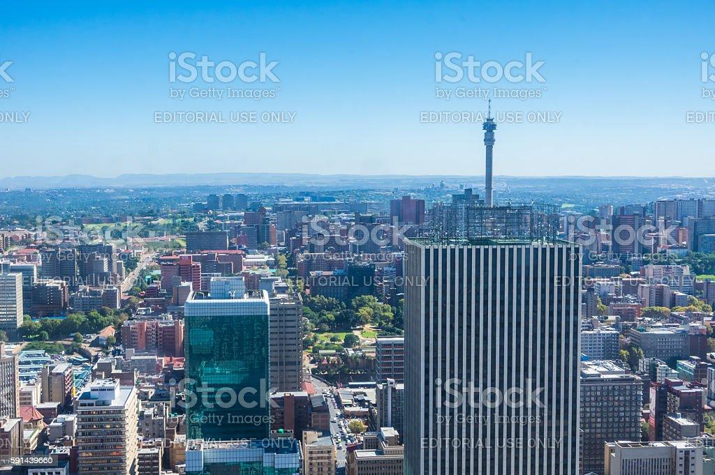 Johannesburg Skyline stock photo