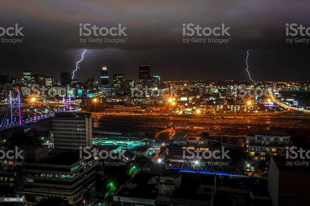 Johannesburg Storm stock photo