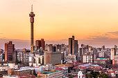 istock Johannesburg sunrise with telkom tower cityscape 1170679782