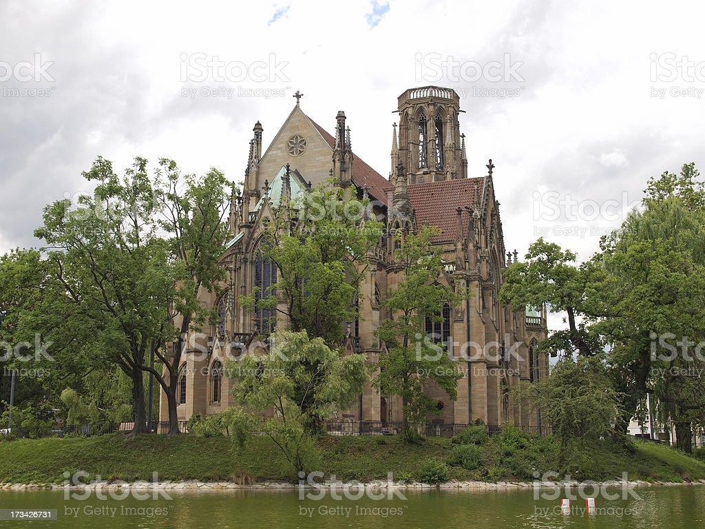 Johanneskirche Church Stuttgart royalty-free stock photo