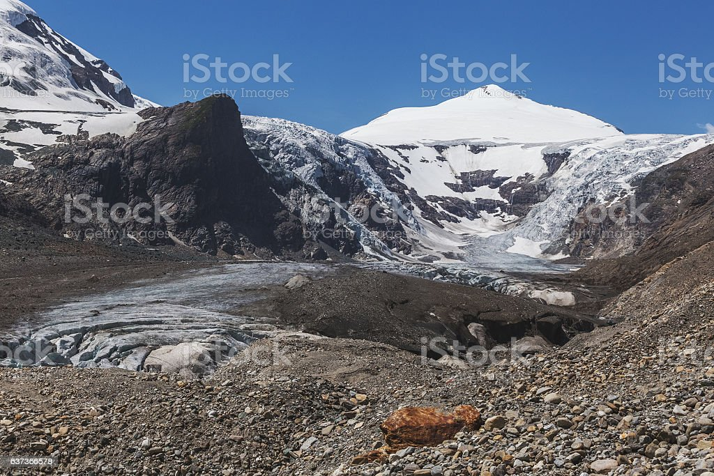 Johannisberg. Alpine landscape. Glacier stock photo