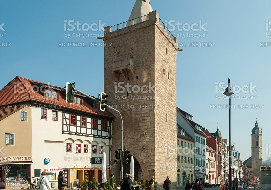 Johannistor in Jena, Germany stock photo