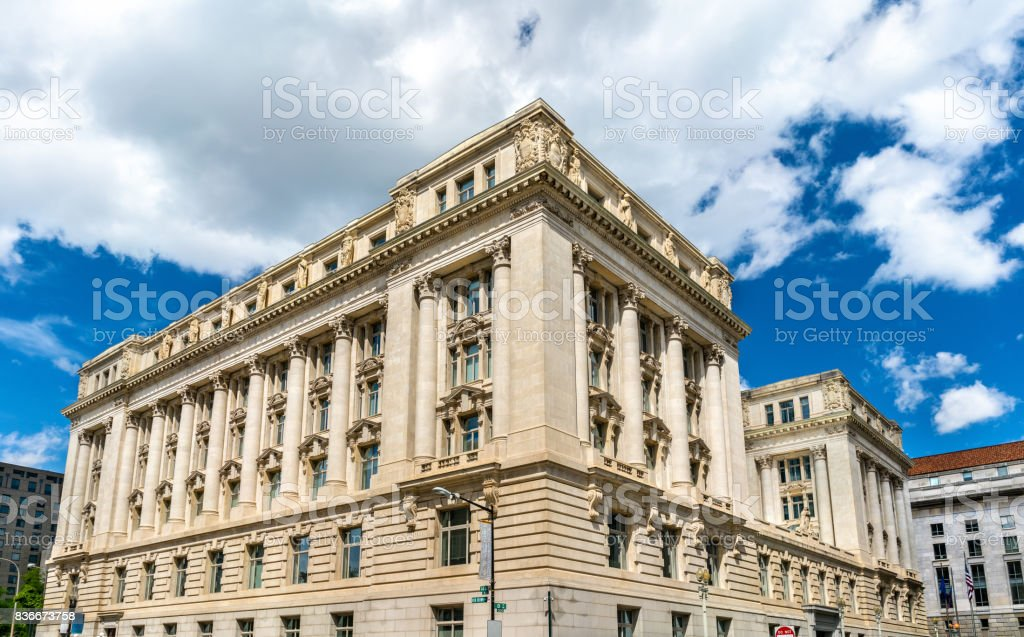 John A. Wilson Building housing the municipal offices and chambers of the Mayor and the Council of the District of Columbia stock photo