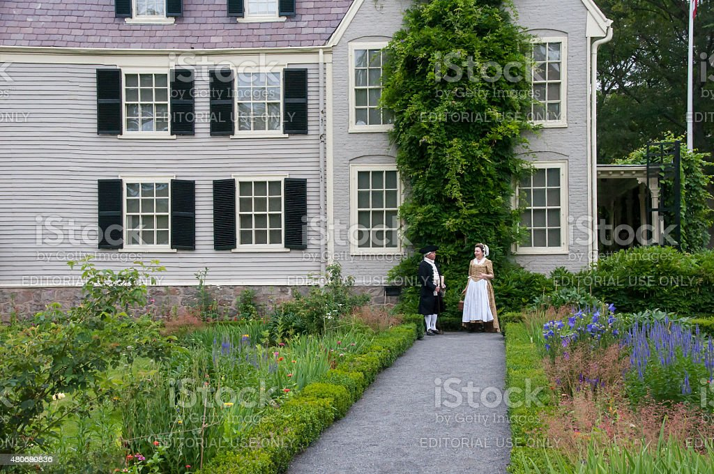 John and Abigail Adams At Peacefield stock photo